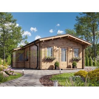 """Casa de madera  """"DANI  6X8 , 48 m2"""" en doble pared- 44-50-44 mm"""