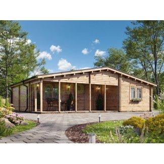 "Casa de madera   ""JENNIFER TWINSKIN , 87 m2"" en doble pared - 44 -50-44 mm"