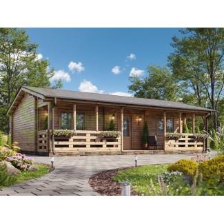 "Casa de madera  ""MAGDA  TWINSKIN, 74 m2 "" en doble pared 44-50-44"