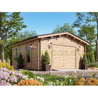 Garaje de madera  BRIN1 350X550   - 44mm