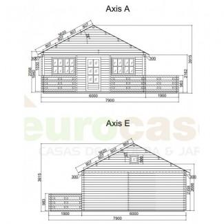 """Casa de madera """"ASTI"""" - 70 mm"""