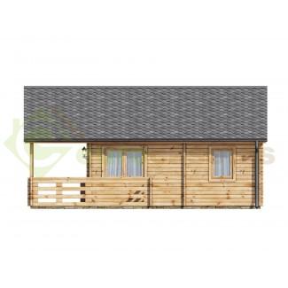 """Casa de madera """"ASTI , 64 m2"""" - 70 mm"""
