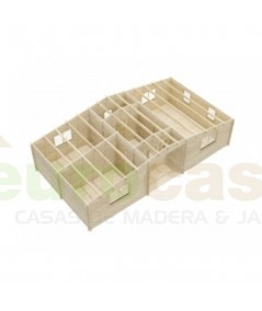 """Casa de madera  """"KRISTI  NORDIC, 64,9 m2"""" - 70 mm"""