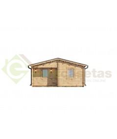 "Casa de madera ""MALLORCA NORDIC, 72 m2"" - 70 mm"