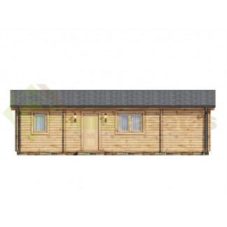 """Casa de madera """"RADO NORDIC 72  m2"""" - 70 mm"""