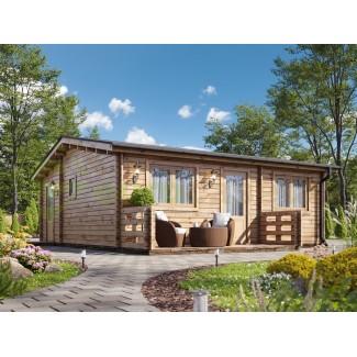 "Casa de madera ""HAKAN PLUS NORDIC , 50 m2"", 70 mm"