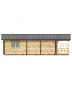 Casa de madera LUGO NORDIC, 52 m2  - 70mm