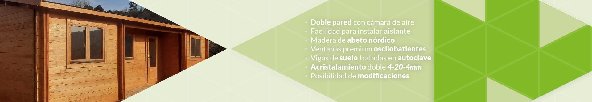 EuroCasetas - Cases de fusta / En grossor de 44+44mm (Doble paret)