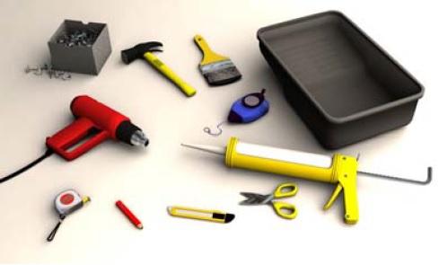 Herramientas para instalar tegola