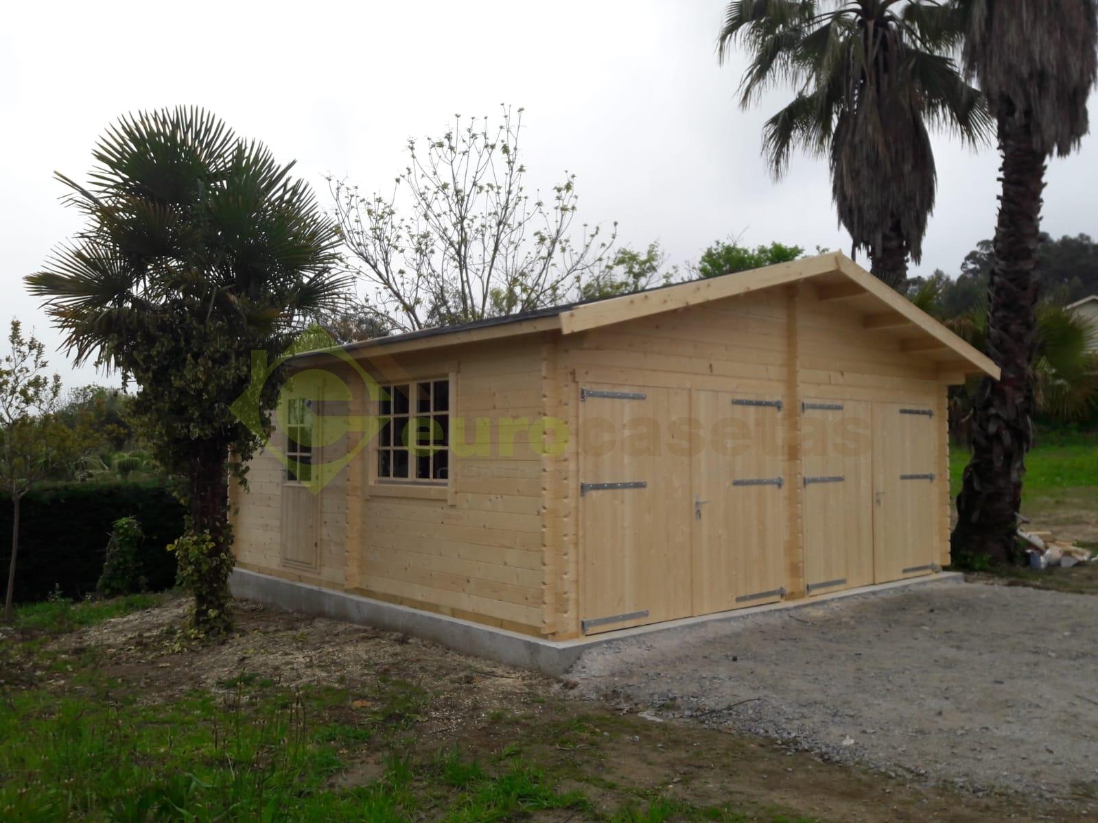 Garaje de madera FR 4 — en Portugal
