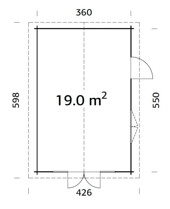 Caseta de madera IRENE 19 m² — en Penafiel ,Portugal
