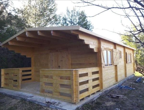 Montaje casa de madera  Lugo (5.16 x 8.20 +1.92m), 70mm en Huesca
